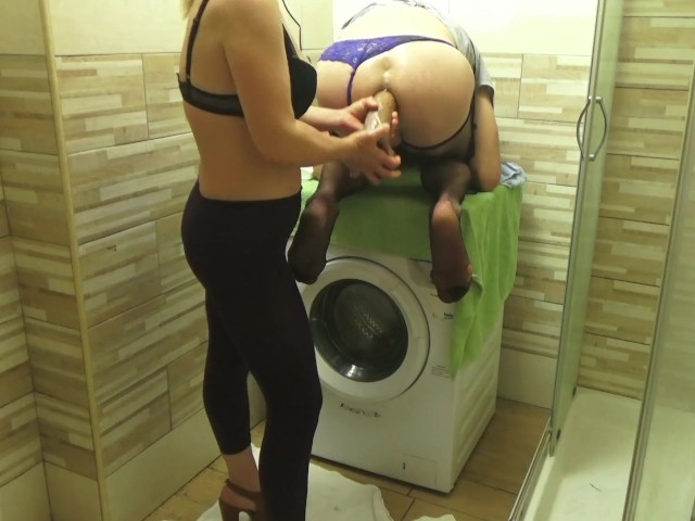 Femdom Pegging From Russian Blonde