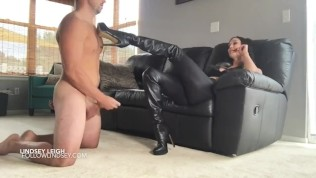 lindsey leigh hot boot tease with ending ballkick
