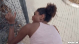 Mofos - Luna Corazon rides cock in public