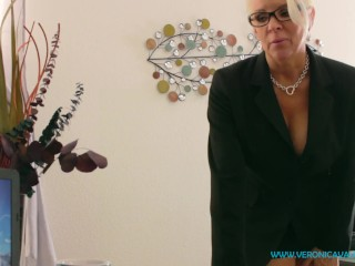 VIRTUAL SEX POV - MILF Secretary Harrassed By Boss Strip and Fuck For Job
