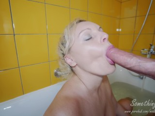 Insanely hot blonde sucks a horse dick and gets facial 4K