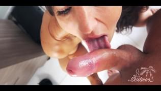 Anal et facial pour cette fille en talons - Amateur francais Sextwoo -