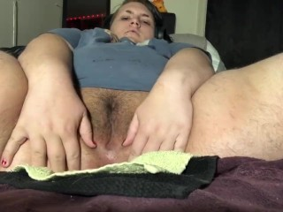 Fucking My Fat Pussy With a Dildo and a Wand