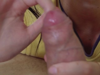 Sloppy Foreskin Play.Teasing Tongue Blowjob