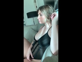 Perfect Busty Blonde Babe rides and insane blowjob till I cant hold it!