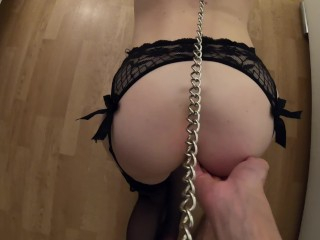 Girl In Stockings Likes Dirty Games