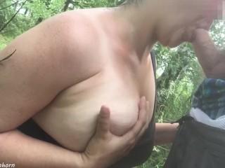 Blowing strangers dick in the woods - German Amateur - Theodora Einhorn