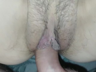 Anal riding and first time creampie