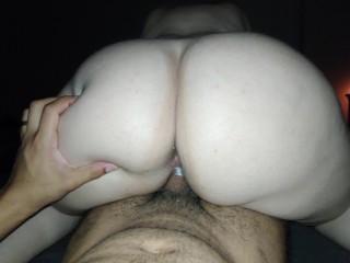 Big Ass White Girl Riding Black Dick - Reverse Cowgirl POV