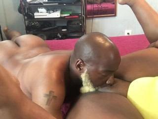 Daddy eating my pussy and daddy getting a rimjob