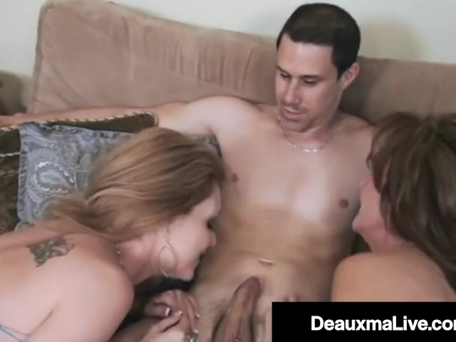 Dick Hungry Cougars Deauxma & Charlee Chase Suck Off Husband