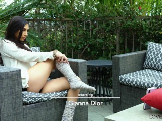 LoveHerFeet - Beautiful Gianna Dior Gets Pussy Fucked By Mature Guy