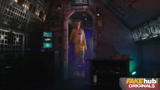 Space Taxi John turns up to fuck hot redhead and hot milf