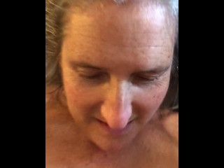 Hot MILF Gets Fucked And Creampied In Ass Mature Granny 60 year old Anal