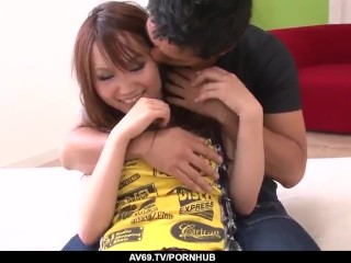 sexy asian miyu loves to play with huge dick - more at 69avs com
