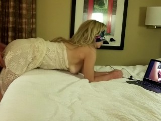 Young Bride Gets Fucked While Watching Herself Get Fucked On PornHub