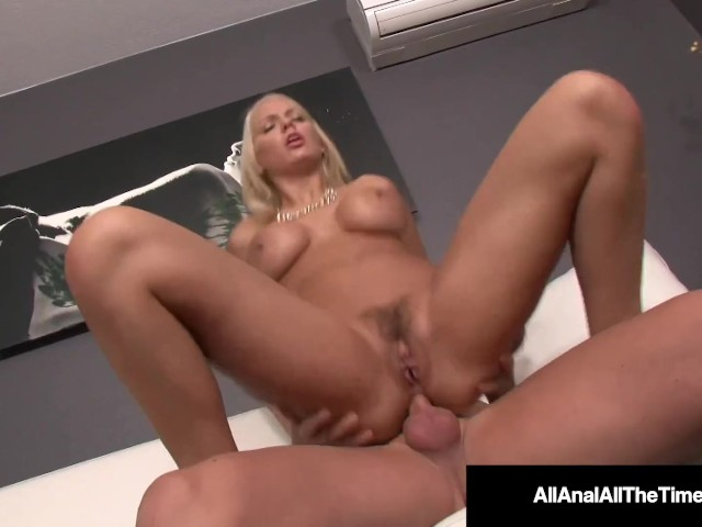 All Anal All the Time - Tan Blonde Kenzie Taylor Farts Cum After Butt Sex!