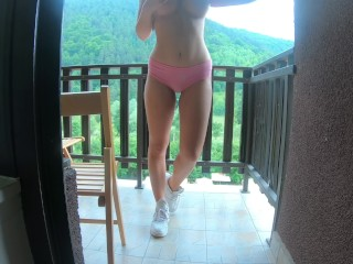 First Anal Creampie for Her on vacation in Switzerland