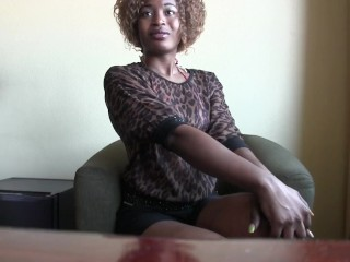 Small African With Tight Pussy Eats Cumm