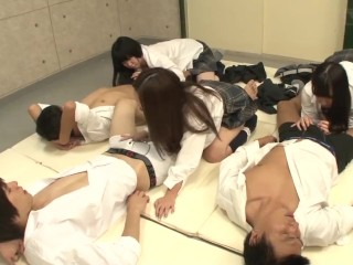JAV School Handjob and Blowjob Lesson for First Timers with Subtitles