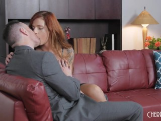 Scarlett is a hot redhead who loves blowing cocks and getting fucked