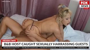 FCK News - Hot Blonde Goldie Glocked Fucked By Her B&B Host