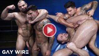 GAYWIRE - Strong Alpha Males Fight And Fuck With Tremendous Passion