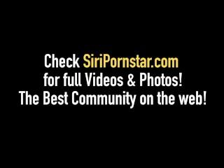 Big Busty Curvy Babe Siri Pornstar Fucks Small Lesbian Sinn Sage!