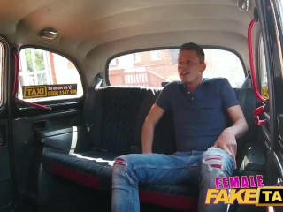 Female Fake Taxi Hot horny busty blonde driver cherry kiss recognises penis
