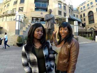 Amateur African Lesbians Using Dildo
