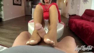 Your Dick Loves My Pantyhose Feet Footjob – Nikki Ashton –