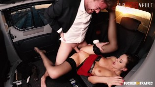 VIPSEXVAULT - Hot British Babe Tina Kay Drilled By Czech Uber Driver