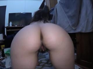 Bushy slit up close after intercourse , slit contrations