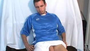 French soccer player shows his big dick in a porn