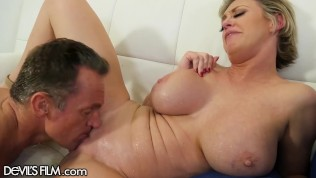 MILF Squirts Gushers on Military Hubby's Cock - DevilsFilm