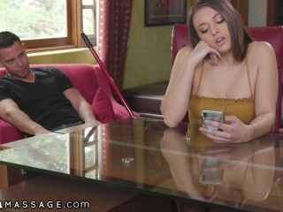 His Work Wife Gia Derza Coaxed into Massage - NuruMassage!