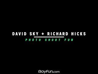 Boyfun - Smooth Twink Richard Hicks Fucks During Photo Shoot With David Sky