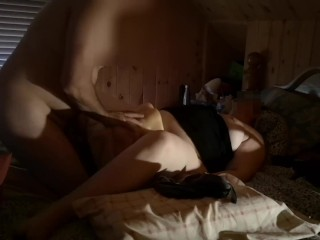 Couple having bisexual threesome with male sex doll and moaning orgasms