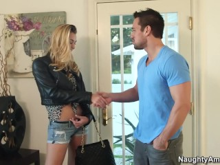 Naughty America Natalia Starr hard fucking in the couch with her big ass