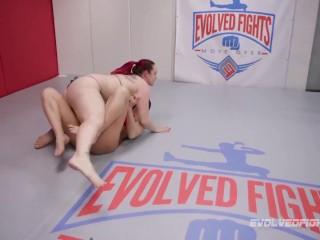 Ariel X dominates Bella Rossi in girl vs girl wrestling sex fight