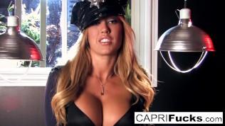 Cop Capri finds a big gun in guy's pants