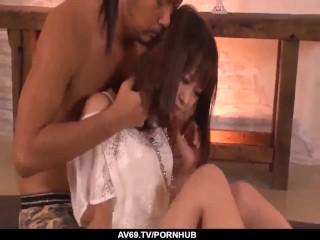 astounding home rough sex on hidden cam with momoka rin - more at 69avs com