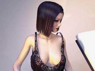 Petite Big Boob Goth Teenager Grows Huge Tits - Breast Expansion Inflation