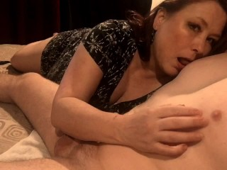 My Amazing Mature Wife Gives Epic Handjob With Nipple Playing and Cum