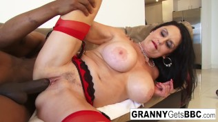 granny takes the black cock