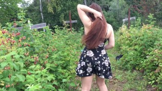 Outdoor Controlled Orgasm In Public Raspberry Patch | Lexa Lite