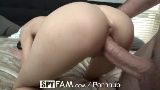SPYFAM Stepsis Walks In On Stepbro Jerking His Big Dick Off