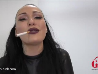 Smoking Blowjob with LATEX Bitch and Dirty Talk