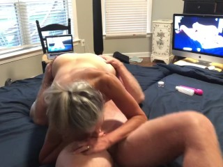 Hot MILF Sucks Hubby's Dick 69 Gets Fucked And Squirts Creampied Mature