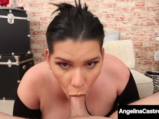Free Rent for BJ! Cuban BBW Angelina Castro Sucks Her Renter's Hard Cock!
